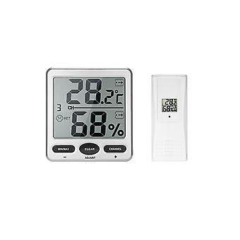 Drahtlose digitale Thermo-Hygrometer TS-WS-07-X1 Silber weiß