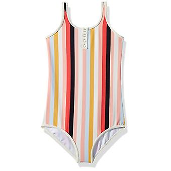 Billabong Girls' Girls' Come On By One Piece Swim Multi 10