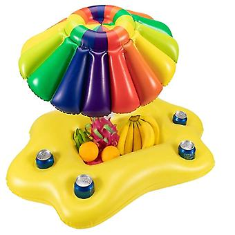Sommer Pool Oppustelig Cup Holder Vand Party-Ice Bar Swimming Pool Float Øl Drik Køler Pvc Oppustelige Flydende Bar Tra