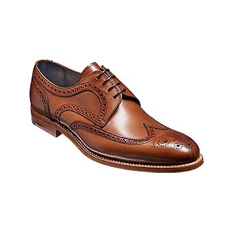 Barker Victor - Brown Hand Painted  | Mens Handmade Leather Oxford Derby | Barker Shoes