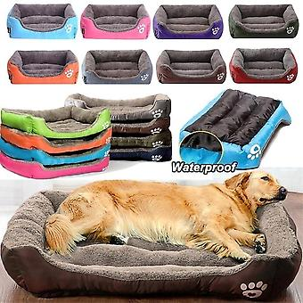 Waterproof Large Soft & Warm Cozy Pet Cat Dog Bed & Basket Mat