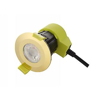 Dimmable LED Recessed Downlight, Laiton poli, 38 deg. Beam Angle, 760lm, 2700K, IP65, DRIVER INCLUS