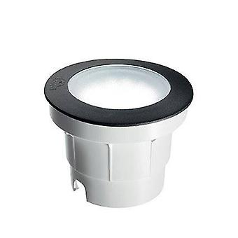 Ideal Lux Ceci - LED 1 Luz Grande Ao Ar Livre Luz Recessada Preta IP67