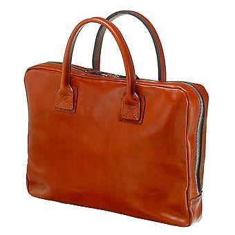 Leather Laptop Bag - The Windsor - Cognac