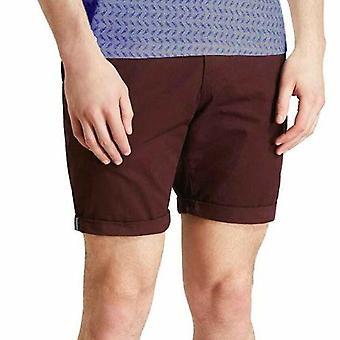 Mens Chino Shorts Casual 100% Calça de Algodão