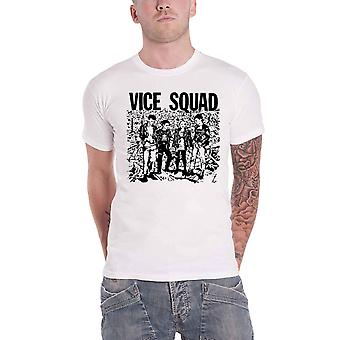 Vice Squad T Shirt Last Rockers Band Logo new Official Mens White