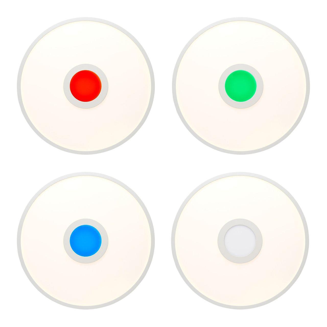BRILLIANT Lampe Odella LED Deckenaufbau-Paneel 45cm weiß | 1x 24W LED integriert, (2940lm, 2700-6500K) | Skala A++ bis E | RGB-Dekolicht für farbenfrohe Akzentbeleuchtung