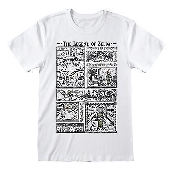 Nintendo Unisex vuxenteckningar Legend av Zelda T-shirt