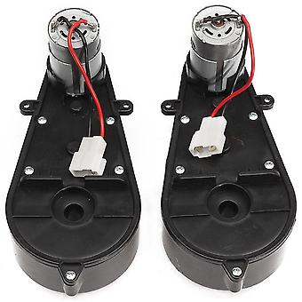 2 Pcs Universal Electric Car Gearbox With Motor-12vdc