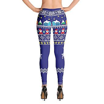 Fashion leggings | christmas series #8 | royal blue