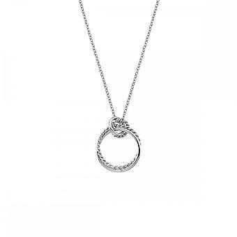 Hot diamanter Sterling sølv Unity Circle anheng DP735