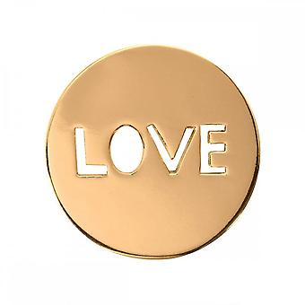 Nikki Lissoni Love It Is Small Gold Plated Coin C1106GS