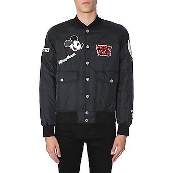 Gcds Fw19m04dy01 Men's Black Nylon Outerwear Jacket