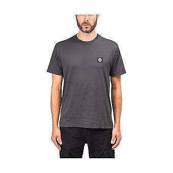 Stone Island Cotton Simple Grey T-shirt