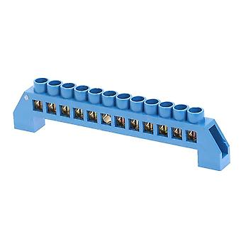 Green Blue Screw Latón Din Rail Terminal Tierra y Bloques Neutros 4/6/8/10/12way Distribution Box Terminal Strip