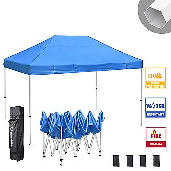 Instahibit 10x15 ft Pop Up Canopy Tent CPAI-84 Commercial Outdoor  Canopy Shade Trade Fair Party Tent 1680D Roller Bag