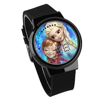 Nepremokavé svetelné LED hodinky Digital Touch Children - Frozen #8