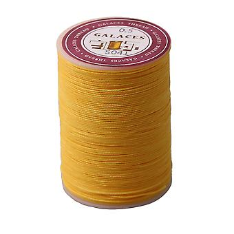 0.5mm Dia Polyester Waxed Cord Line Leather Craft Sewing Wax Thread Cord