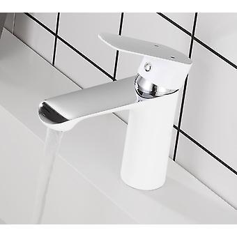 Robinet d'évier de salle de bains, robinet simple de bassin de poignée, salle de bains froide et chaude d'eau