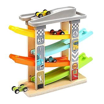4 Layered Mini Car Track Ramp For Racing Game