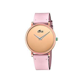 لوتس L18778-1 ارتفع الذهب لهجة الاتصال الوردي الجلود حزام ساعة اليد