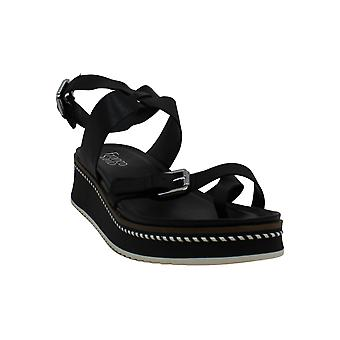 Franco Sarto Women's Shoes Eli Leather Open Toe Casual Mule Sandals