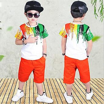 Boys Clothing Set, Summer, Stripe Colorful T-shirt + Pants