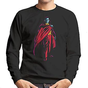 Dracula Cape Pose Dark Blood Illustration Men's Sweatshirt