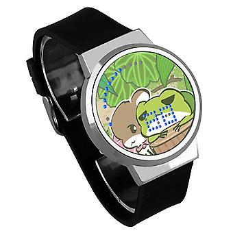 Nepremokavé svetelné LED digitálne dotykové detské hodinky - Cestovanie žaba #6