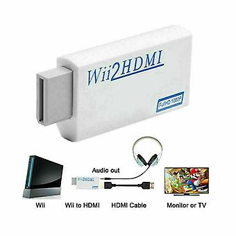 3,5 mm Full-hd 1080p Wii Till HDMI-kabel Converter Adapter Wii2hdmi Audio