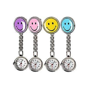 سحر المحمولة ابتسامة الوجه ممرضة ووتش الفولاذ المقاوم للصدأ جيب الساعات