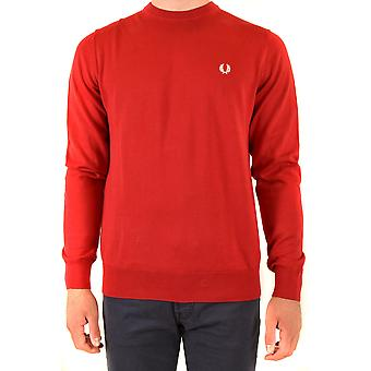 Fred Perry Ezbc094080 Men's Red Cotton Sweater