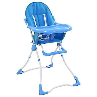 Baby High Chair Blue and White
