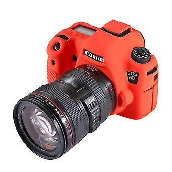 PULUZ Soft Siliconen Beschermhoes voor Canon EOS 6D(Rood)