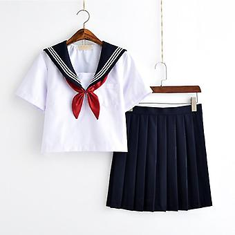 Japoneză Girls Clasa Navy Sailor Uniforme Studenți Haine, Costume Sailor