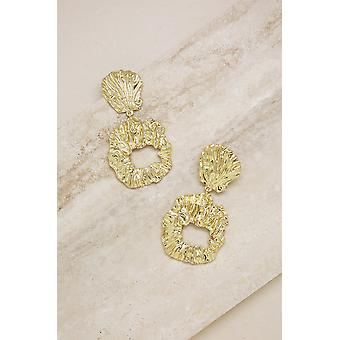 Gold Foil Abstract Earrings