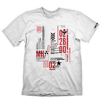 Call of Duty Call Of Duty Cold War Defcon-1 T-Shirt White Large