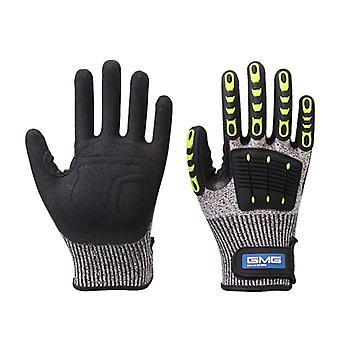 Schnitt beständige Handschuhe, Anti-Aufprall, Vibrationsöl, Gmg, Tpr Sicherheit Arbeit, Anti