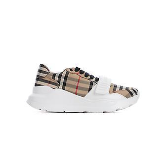 Burberry 8020282a7026 Heren's Beige Cotton Sneakers