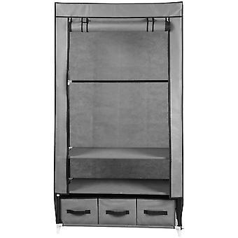 Šatní skříň textil světle šedá 88x50x160cm