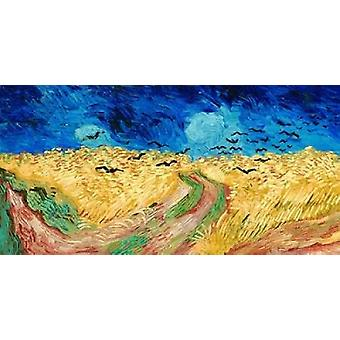 Wheat Field with Crows Poster Print by Vincent Van Gogh