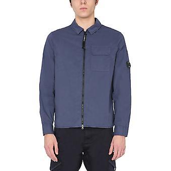C.p. Företag 10cmsh173a002824g882 Män's Blue Cotton Skjorta