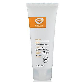 Green People -Sun lotion SPF15 with tanning accelerator - travel measurement 100 ml