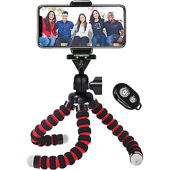 Phone Tripod, Portable and Flexible Camera Stand Holder with Wireless Remote