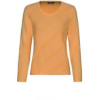 Olsen Tan Ribbed Front Jumper
