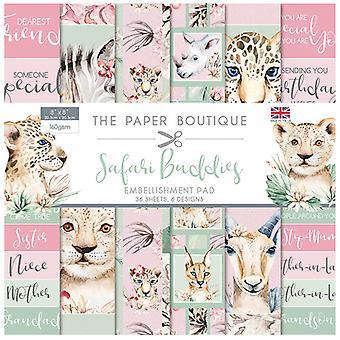 The Paper Boutique - Safari Buddies Collection - 8x8 Embellishments Pad