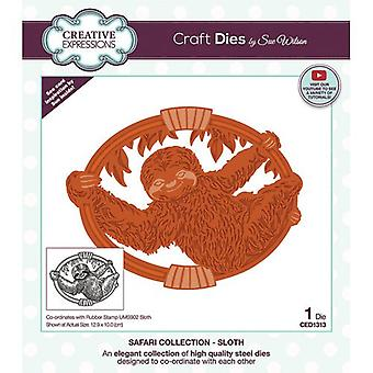 Creative Expressions Safari Collection Cutting Dies - Sloth