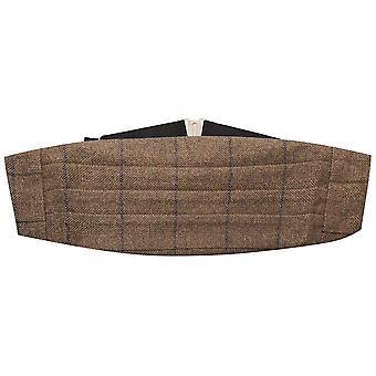 Orzeszki ziemne Brązowy Tweed Cummerbund