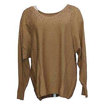 Belle By Kim Gravel Women's Sweater Réversible avec Bling Gold A386452