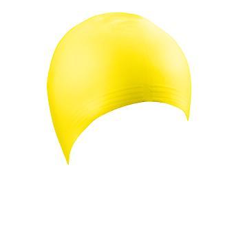 ADULTOS de beco látex natação Cap-amarelo